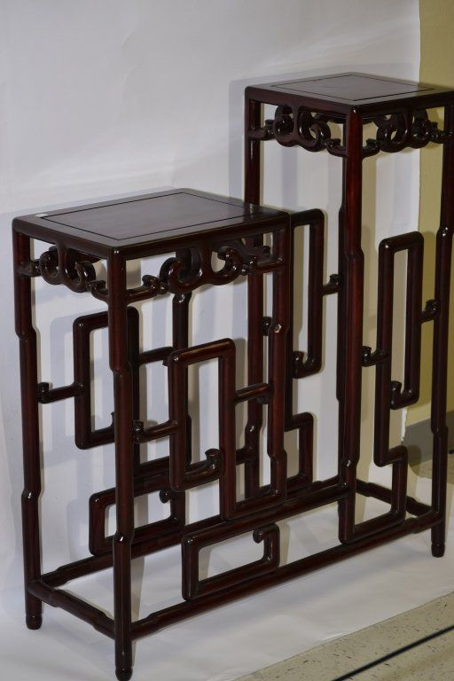 Chinese Hongmu Double Stand