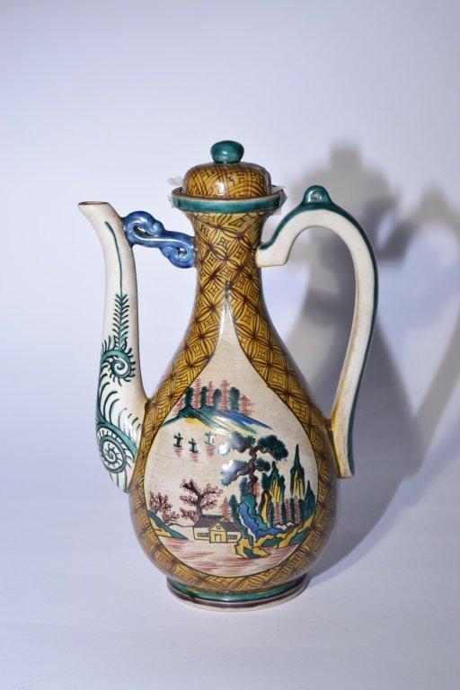 19th C. Japanese Kutani Wine Pot