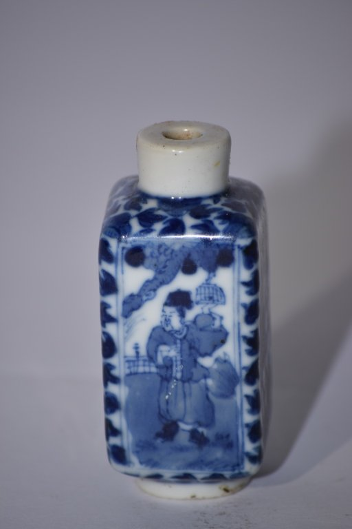 19th C. Chinese Blue and White Snuff Bottle