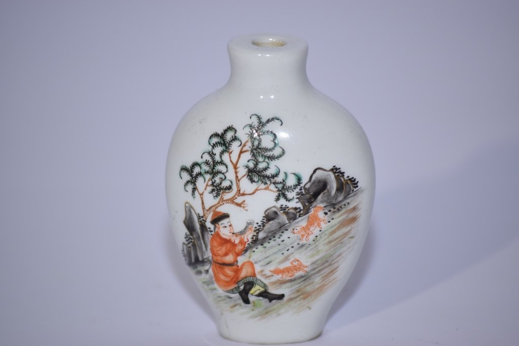 19th C. Chinese Famille Rose Snuff Bottle