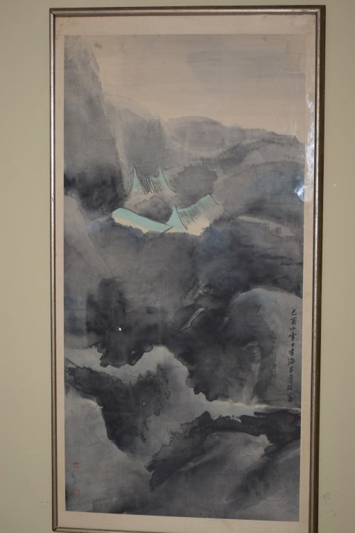 20th C. Chinese Watercolor Painting By Lui ShouKun