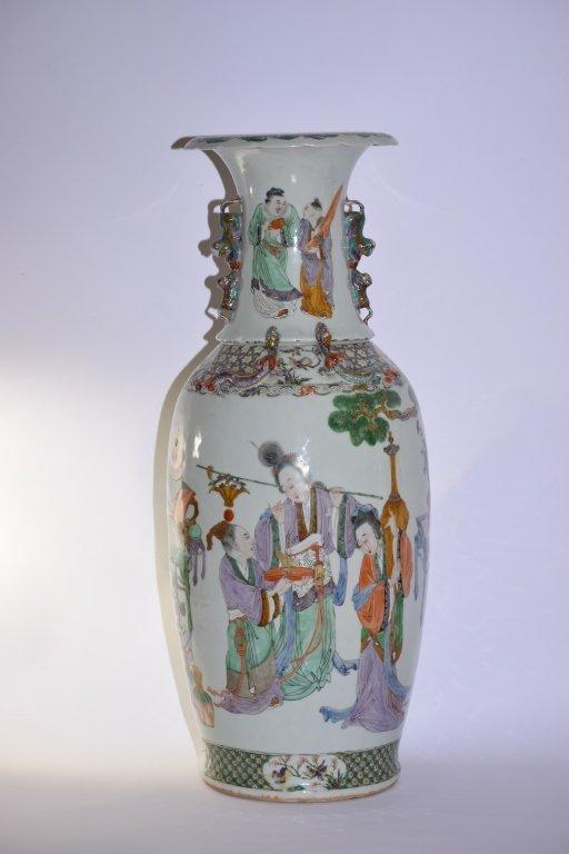 Large Qing DaoGuang Chinese Famille Rose Vase