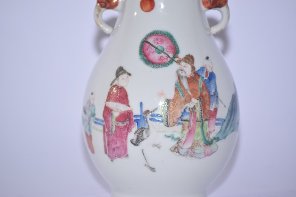 19th C. Chinese Famille Rose Vase - 2