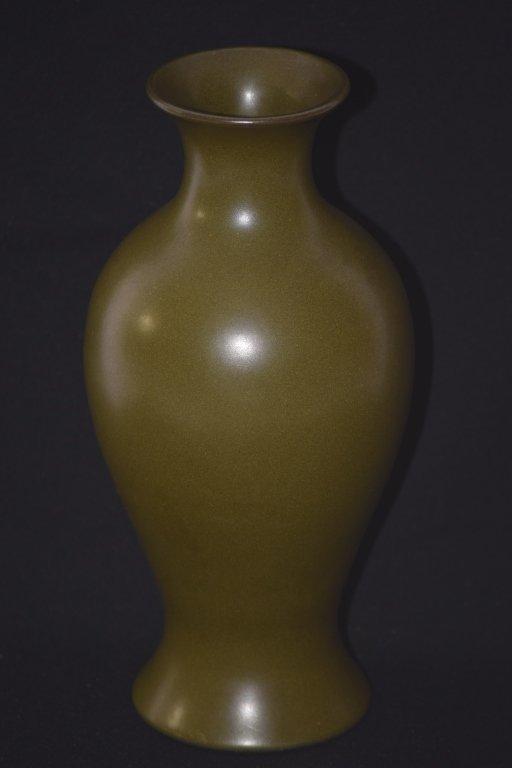 Qing DaoGuang Chinese Tea Glaze Vase