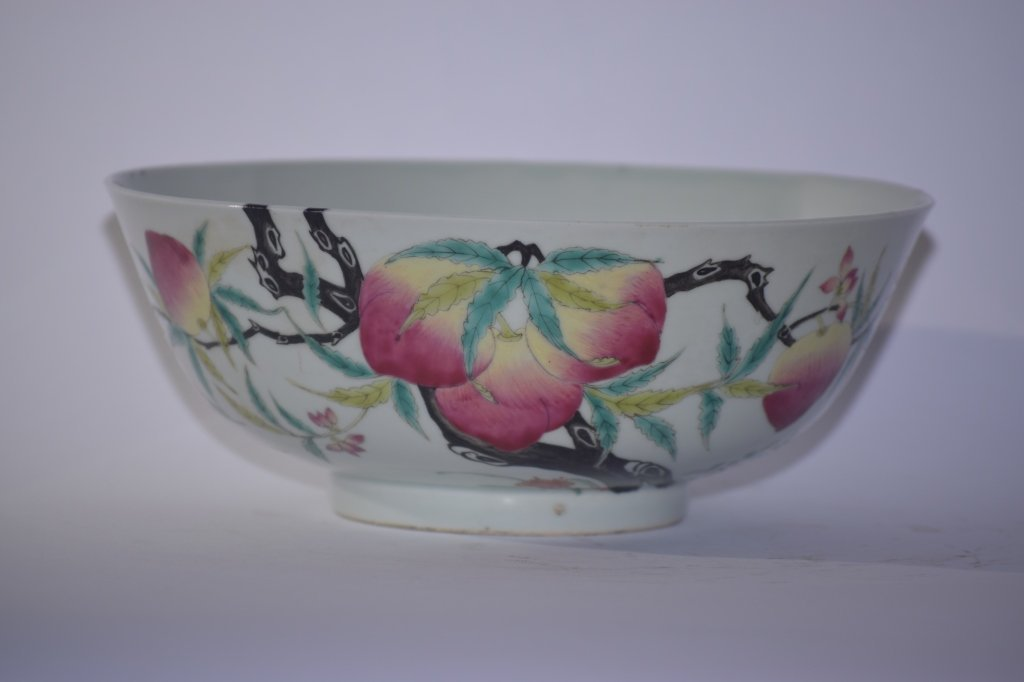 19th C. Chinese Famille Rose Peach Bowl