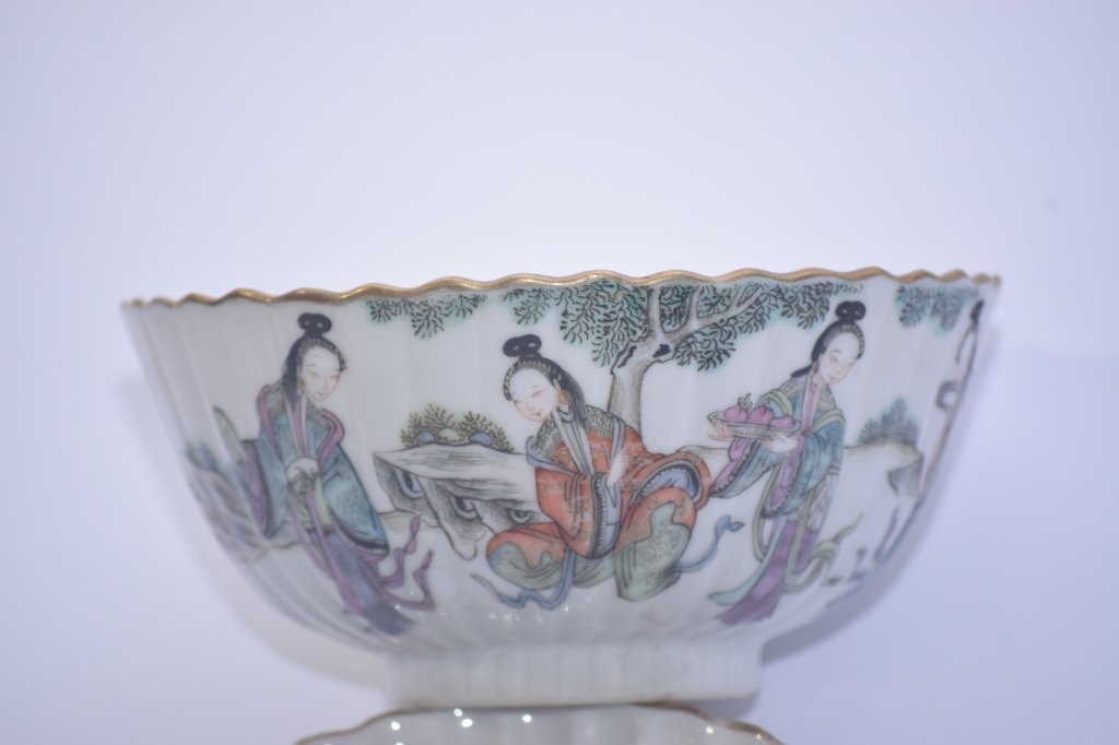 XianFeng Chinese Famille Rose Covered Tea Cup - 3