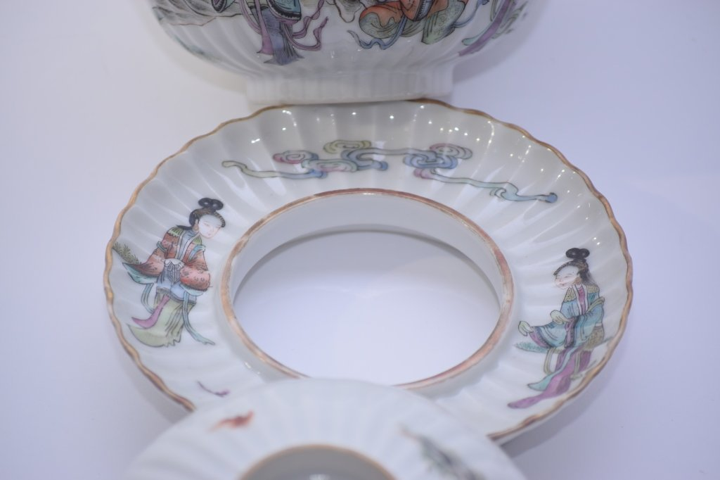 XianFeng Chinese Famille Rose Covered Tea Cup - 5