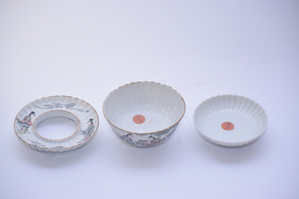 XianFeng Chinese Famille Rose Covered Tea Cup - 6