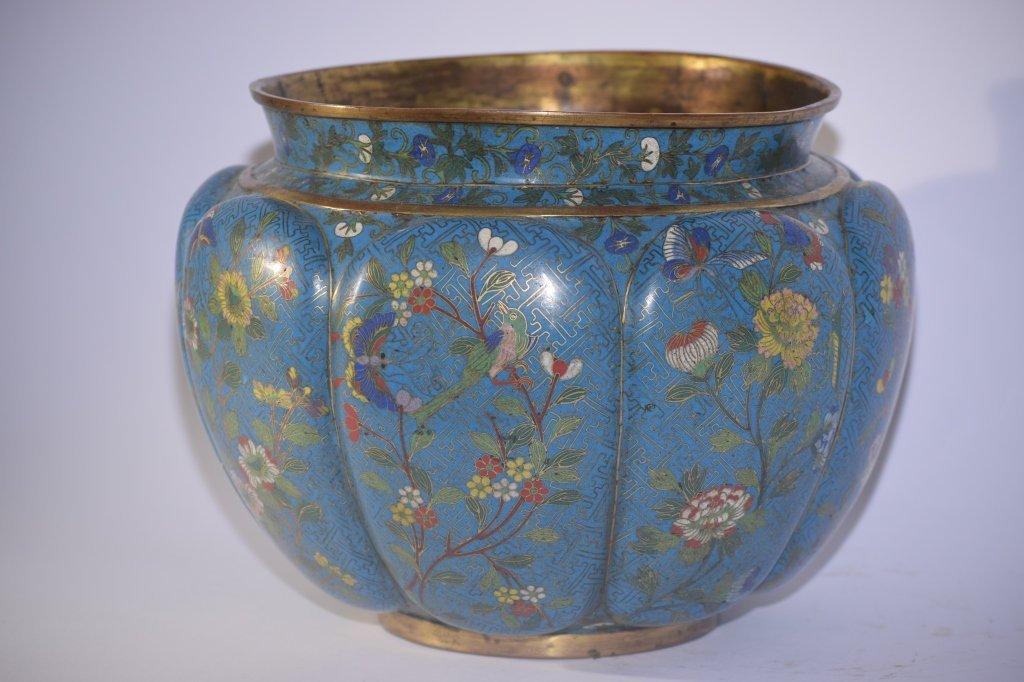 Large 19th C. Chinese Cloisonne Jar