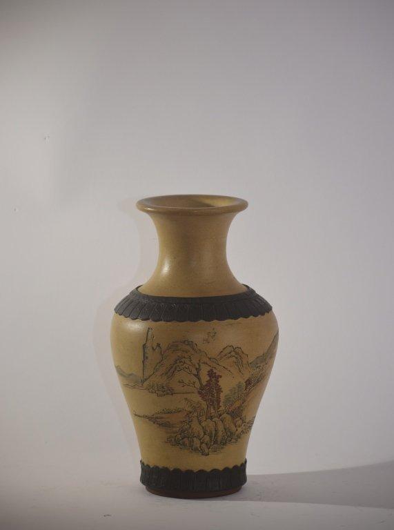 Qing Chinese ZiSha Vase