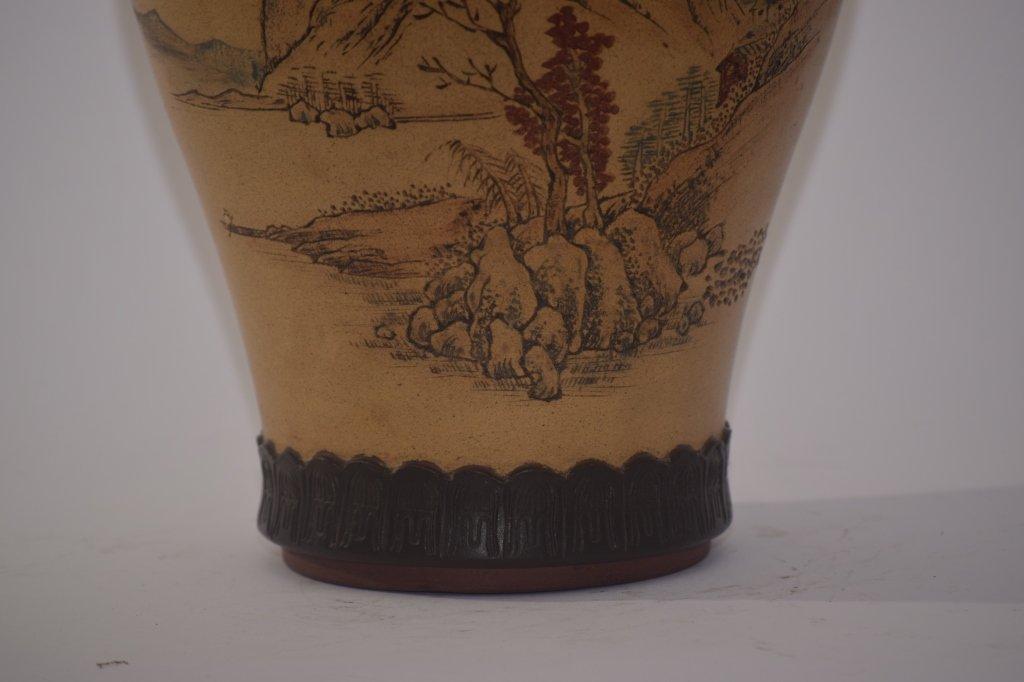Qing Chinese ZiSha Vase - 5