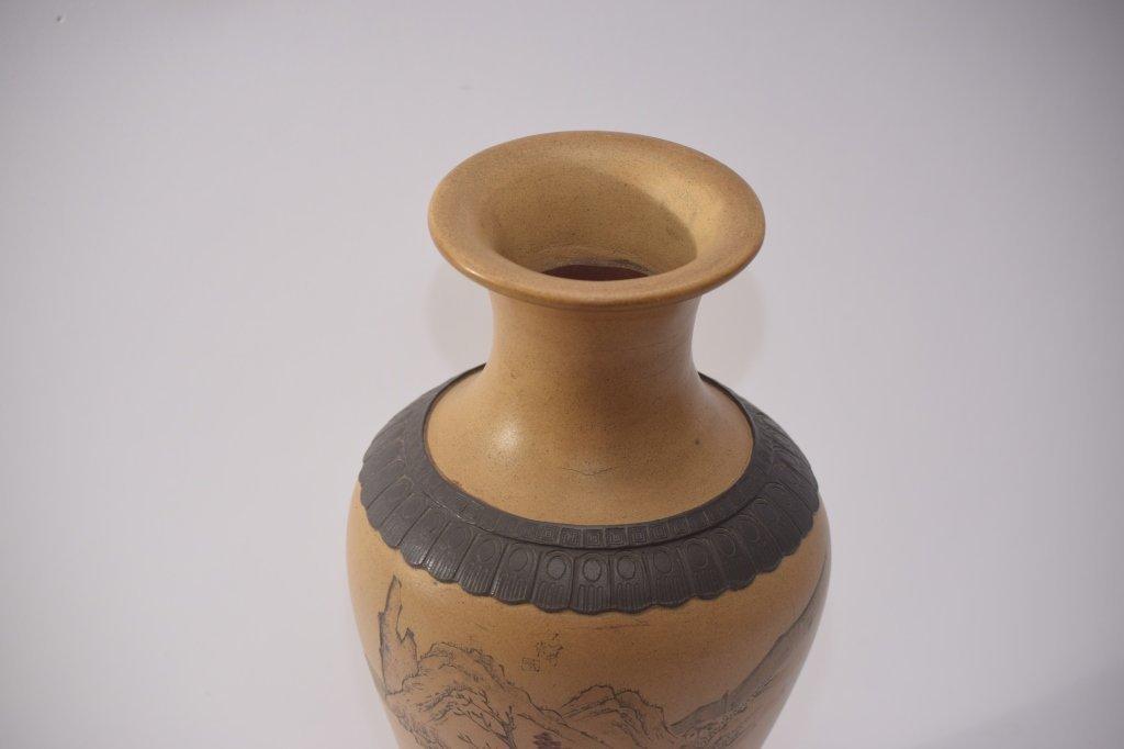 Qing Chinese ZiSha Vase - 7