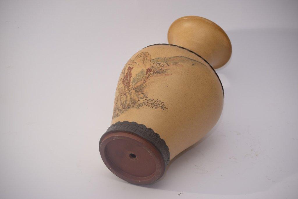 Qing Chinese ZiSha Vase - 8