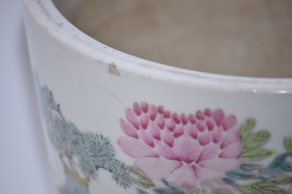 19th C. Chinese Famille Verte Flower Pot, Xu PinHeng - 10