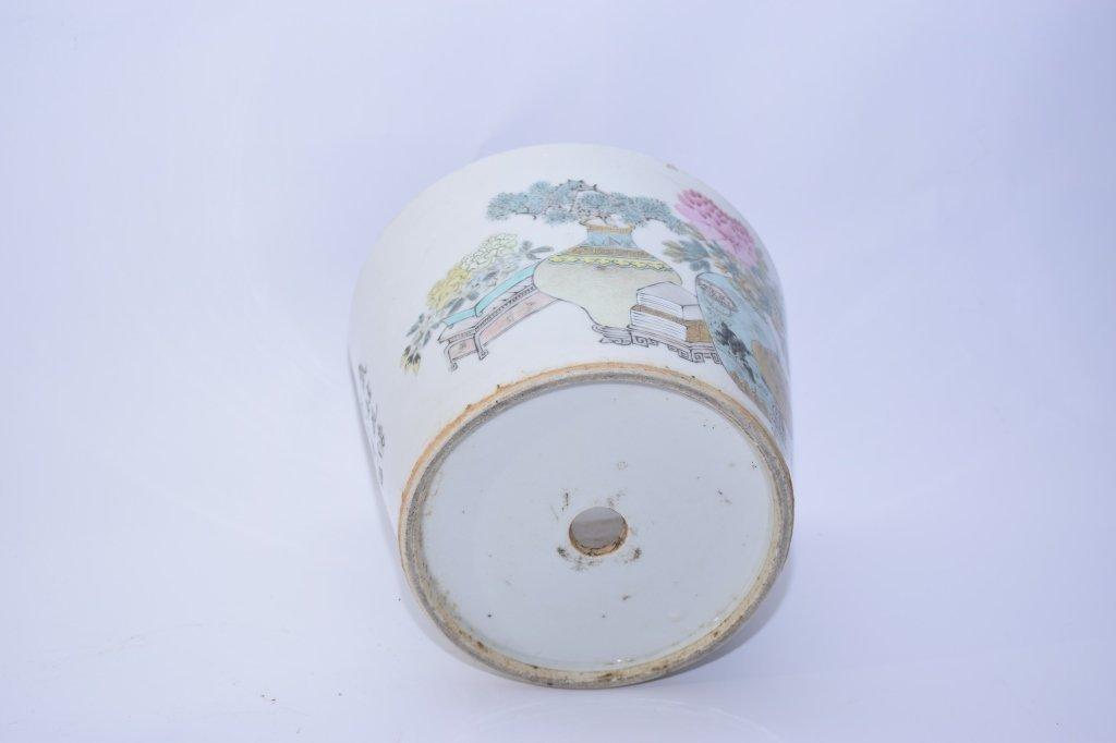 19th C. Chinese Famille Verte Flower Pot, Xu PinHeng - 8