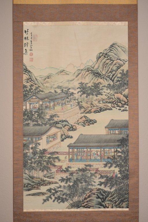 Republic Chinese Watercolor Scroll, Han ZongXiang