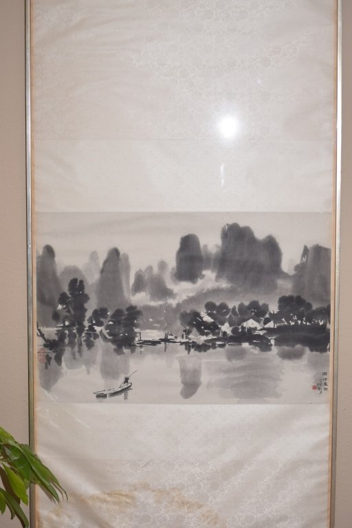 Chinese Wood Block Print of Landscape by Xu BeiHong