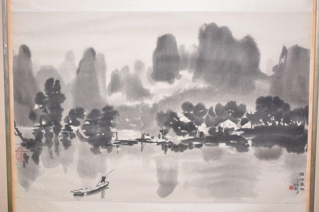Chinese Wood Block Print of Landscape by Xu BeiHong - 2