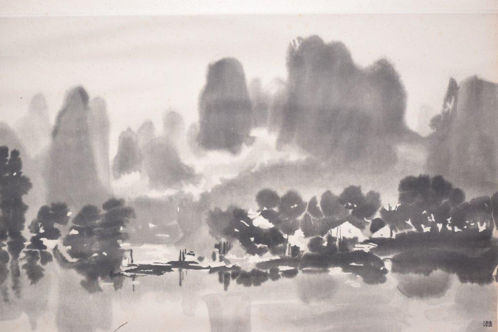 Chinese Wood Block Print of Landscape by Xu BeiHong - 6