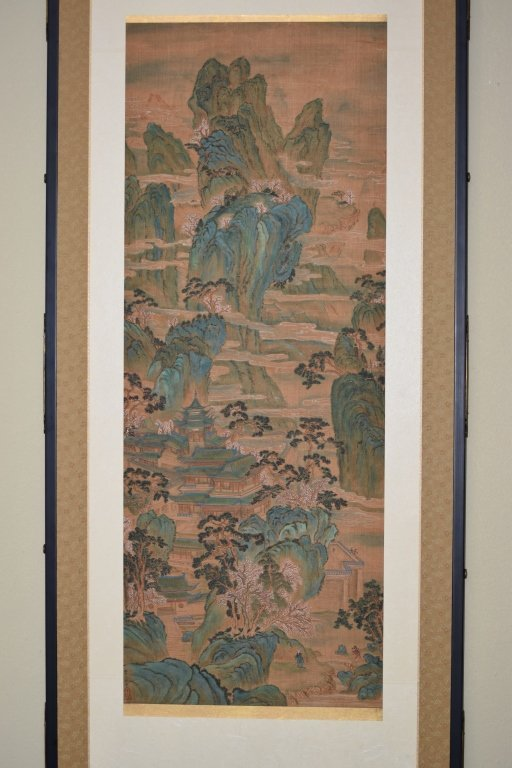 19th C. Chinese Watercolor after Chou Ying's Style