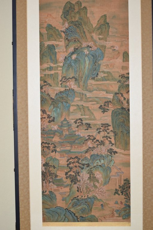 19th C. Chinese Watercolor after Chou Ying's Style - 2
