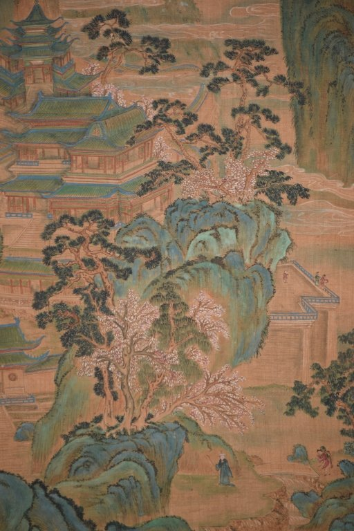 19th C. Chinese Watercolor after Chou Ying's Style - 5