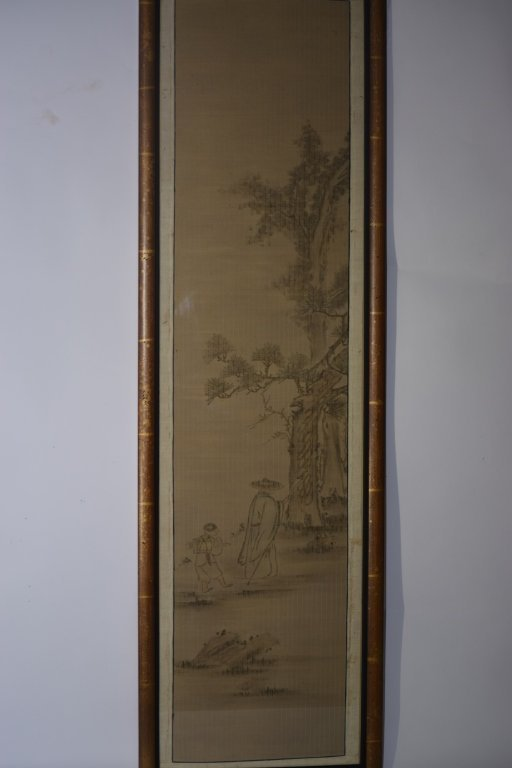 19th C. Chinese/Japanese Watercolor Painting