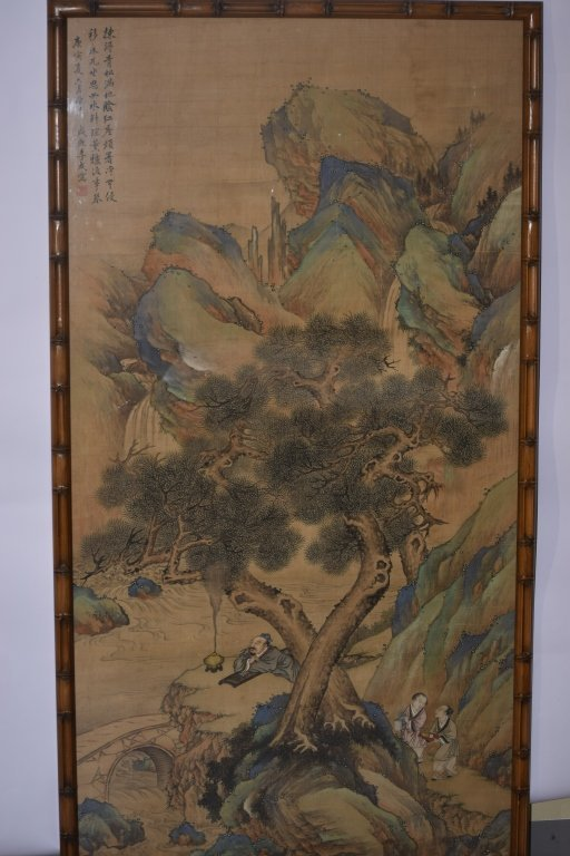 Late Qing Chinese Watercolor Painting after Li Cheng