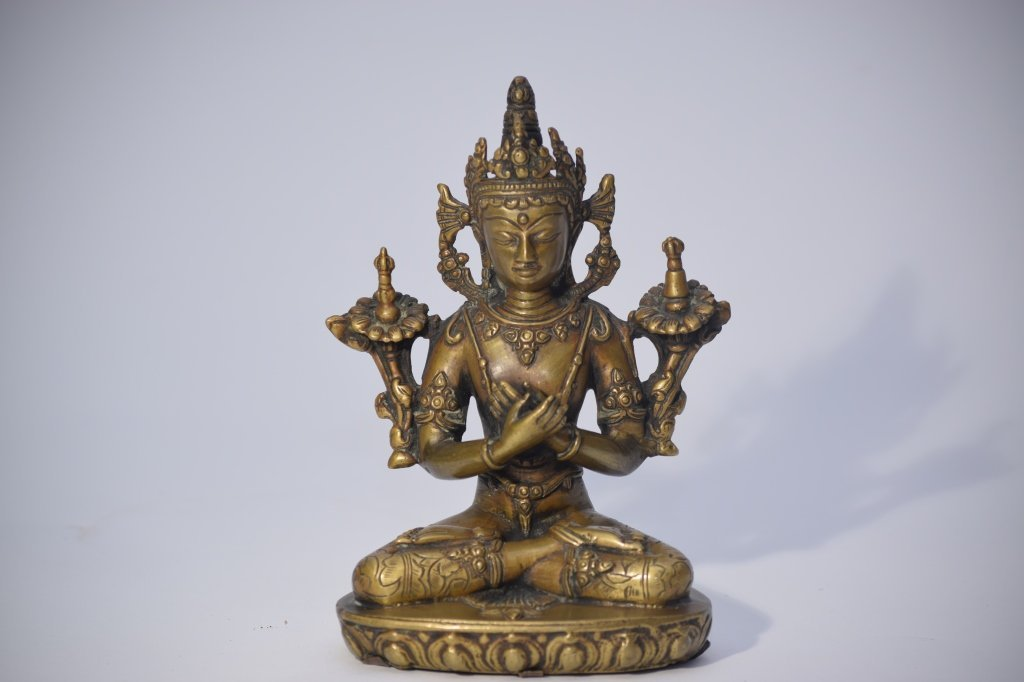 16-17th C. Tibetan(?) Bronze Buddha