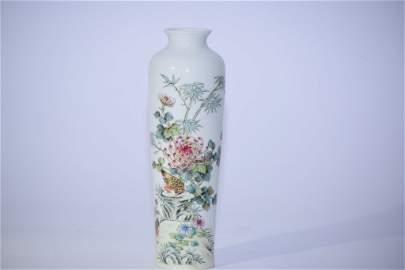 HongXian Chinese Famille Rose Vase
