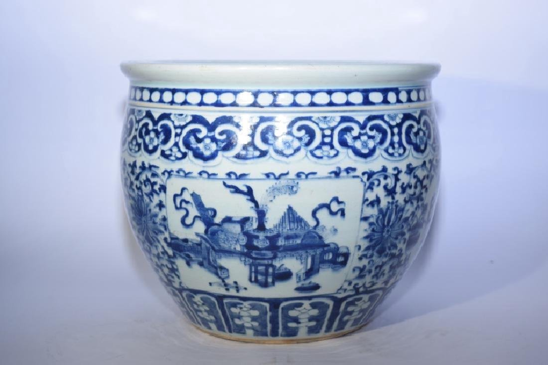 Qing Chinese Blue and White Jar