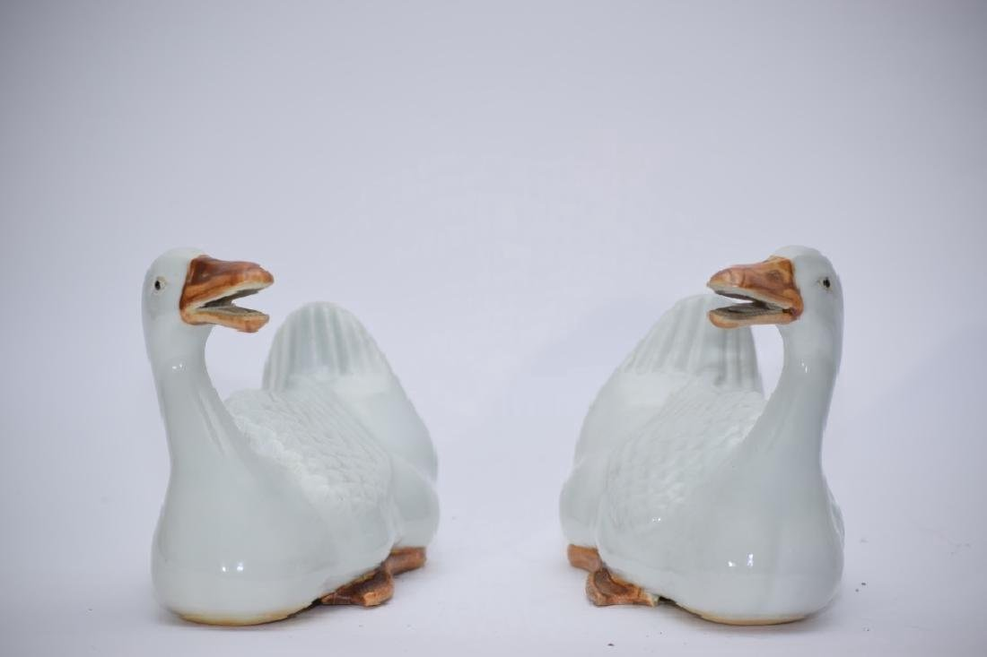 "Pair of Republic Chinese ""Zhu JianFa"" Made Ducks"