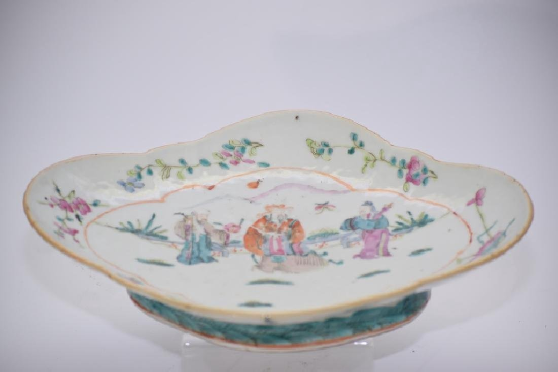 Tongzhi Chinese Famille Rose Footed Plate