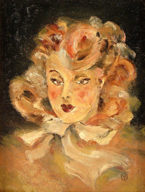 166: HENRI de TOULOUSE-LAUTREC, oil on paper on panel