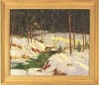 233 20th C American School oil on canvas