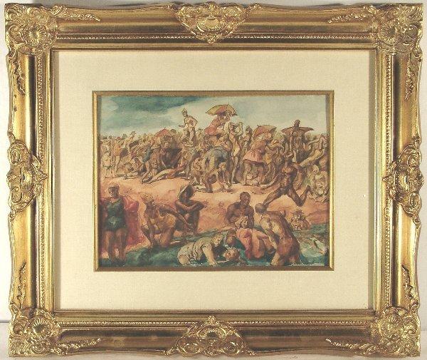 235: REGINALD MARSH, (American, 1898-1954), watercolor