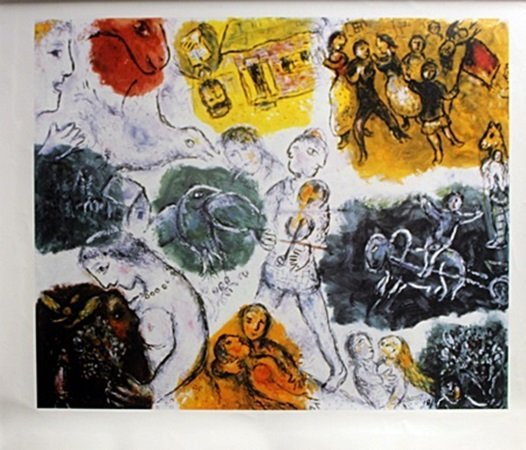 Giclee on Canvas After Marc Chagall (5C)