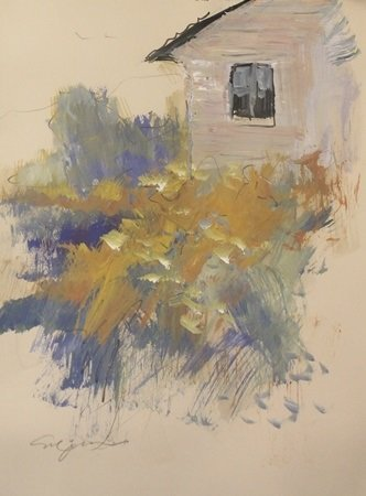 "Original Watercolor on Paper ""Bedroom Window"" by"