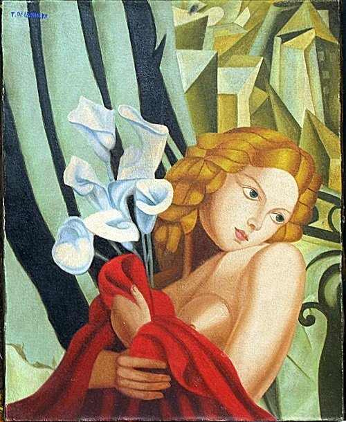 Oil Painting on Canvas by Tamara de Lempicka