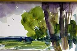 """Original Watercolor on Paper """"Beyond the Fence II"""" by"""