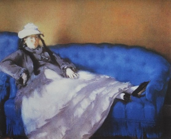 "Lithograph ""Madame Manet on a Blue Sofa"" after Edouard"