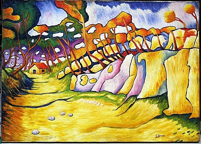 Oil Painting on Canvas by Georges Braque