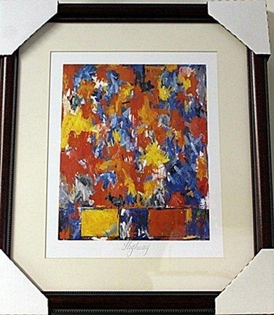 Framed Jasper Johns- Highway Lithograph