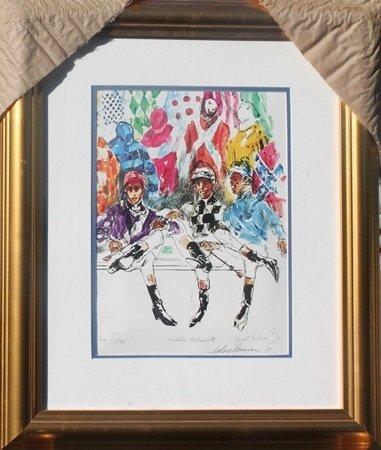 "Fine Art Giclee ""Jockeys"" after LeRoy Neiman (45O)"