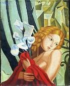 Oil Painting on Canvas by Tamara de Lempicka