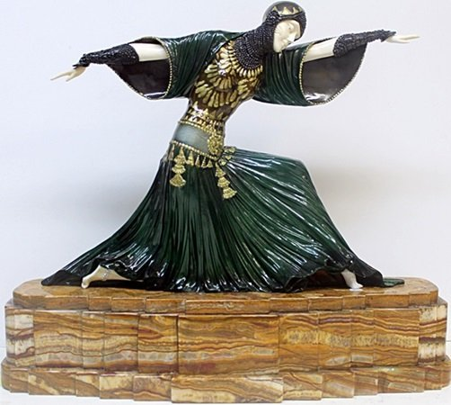 "Bronze Sculpture ""Bethany"" - D.H. Chiparus"