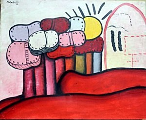 Oil Painting on Canvas by Philip Guston