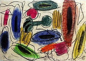 Composition - Pastel Drawing - Arshile Gorky