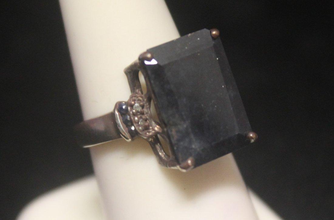 Fine Sapphire Silver Ring