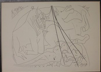 Girl Horse And Minotaur - Lithograph - by Picasso